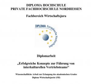 Diplomarbeit: Erfolgreiche Konzepte zur Führung von  interkulturellen Vertriebsteams