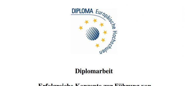 """Diplomarbeit: """"Erfolgreiche Konzepte zur Führung von  interkulturellen Vertriebsteams"""""""