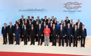 Machtdistanz: G20 Gipfel 2017 (Quelle: Wikipedia)